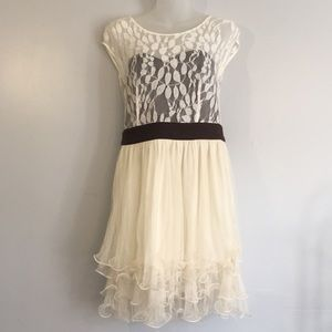 Ryu brown/cream party dress
